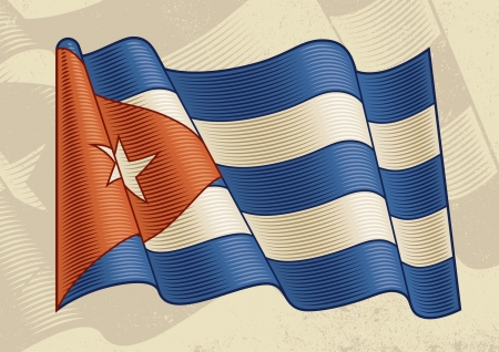 Vintage Cuban Flag Stock Vector - 13859057
