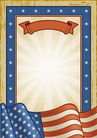 Retro American Frame Illustration