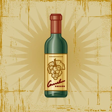 Retro Wine Bottle Stock Vector - 15379671
