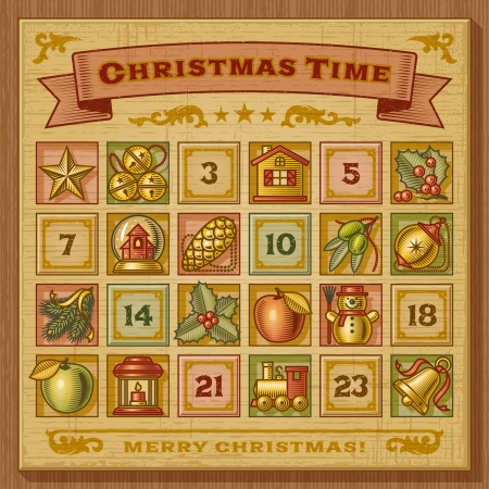 advent: Vintage Christmas Advent Calendar
