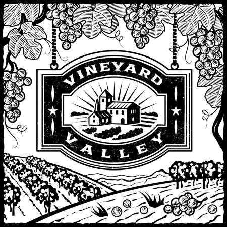 villas: Vineyard Valley black and white