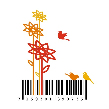 Nature Barcode Concept Stock Vector - 18216690