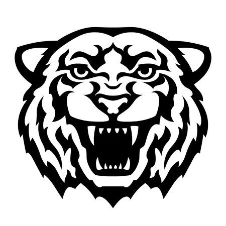 Bien connu Tigre Mascotte En Tête. Clip Art Libres De Droits , Vecteurs Et  JL31