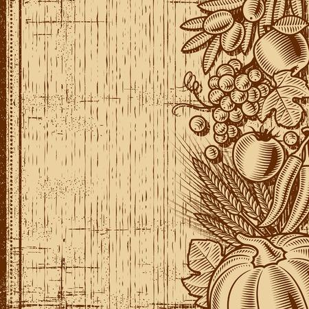 harvest background: Retro harvest background brown