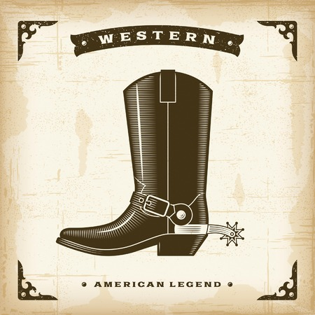 cowboy boots: Vintage Western Cowboy Boot