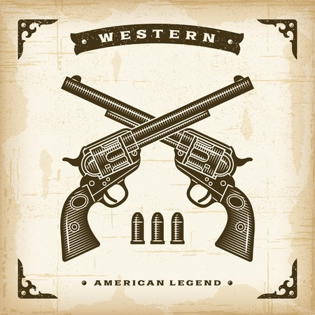 western background: Vintage Western Revolvers