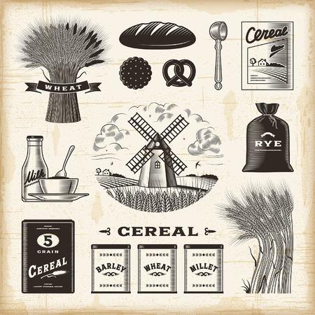 cereal bowl: Vintage cereal set