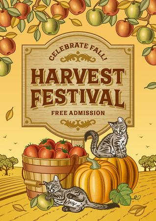 Harvest Festival Poster  イラスト・ベクター素材