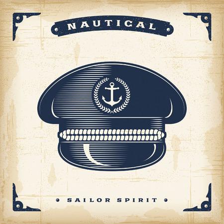 skipper: Vintage Captain Hat