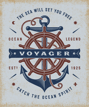 voyager: Vintage Nautical Voyager Typography