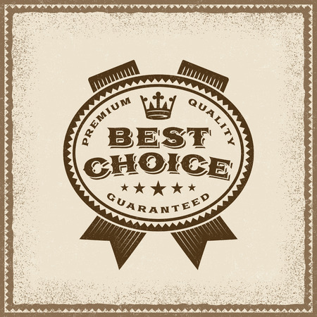 Vintage Best Choice Label