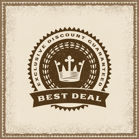 Vintage Best Deal Label