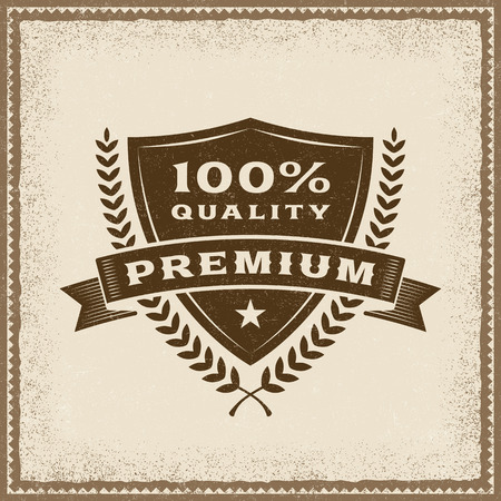 Vintage Premium 100% Quality Label Illustration