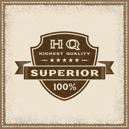 Vintage Highest Quality Superior Label