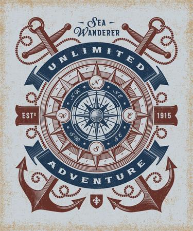 Vintage Unlimited Adventure Typography Illustration