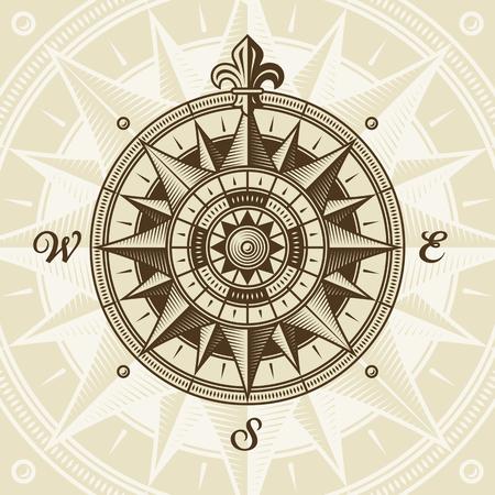 ビンテージの航海中世風ローズ
