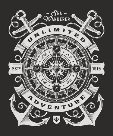 黒い背景にビンテージの無限の冒険のタイポグラフィ