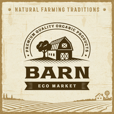 Vintage Barn Label