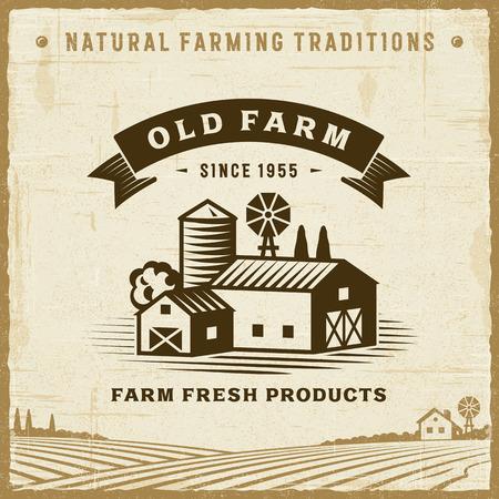 Etichetta vintage Eco Farm