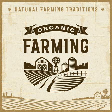 Etichetta di agricoltura biologica vintage