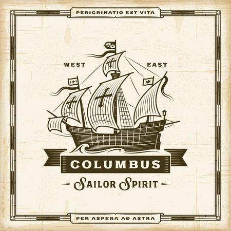 Vintage Columbus Label