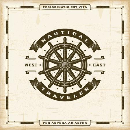 Vintage Nautical Traveler Label