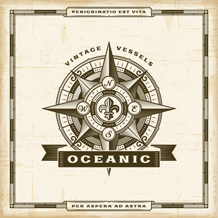 Vintage Oceanic Label Stock Illustratie