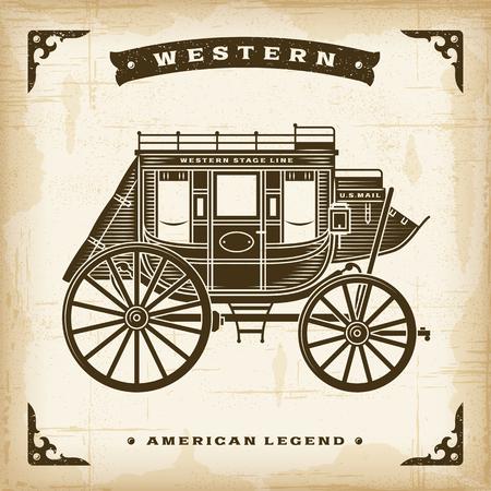 Diligenza occidentale vintage