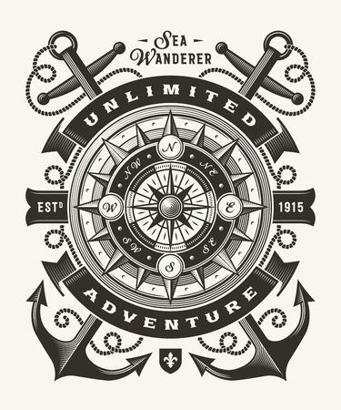 Typographie d'aventure illimitée vintage (une couleur)