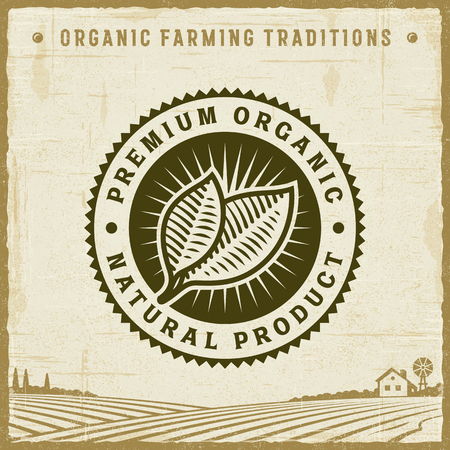 Vintage Premium Organic Natural Product Label
