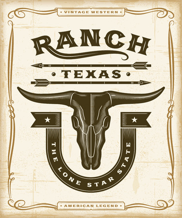 Vintage Western Ranch Label Graphics