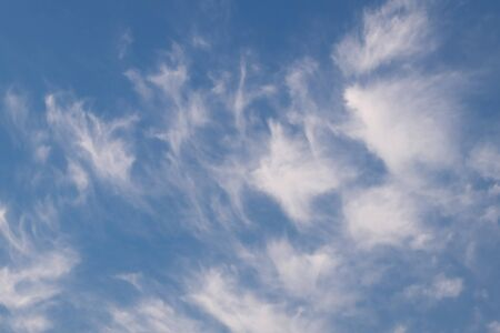 Cirrus clouds on a blue sky. 스톡 콘텐츠