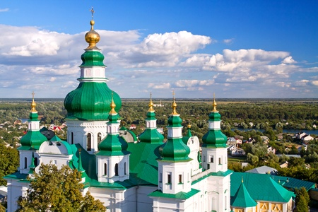 Troeckiy cathedral (17th century) in the city of Chernihiv, Ukraine photo