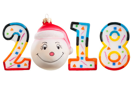 Numbers new year 2018 isolated on white background