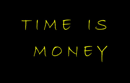 margins: The saying or quote Time is Money