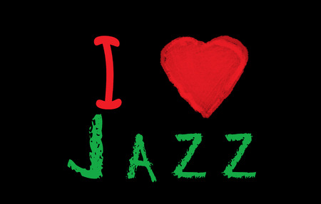 I love jazz on blackbord photo