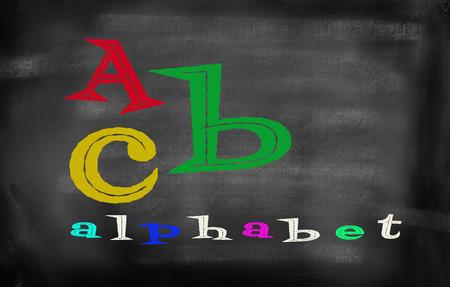funn: English alphabet with funn color Stock Photo