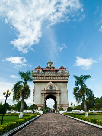 vientiane: Victory monument in Laos