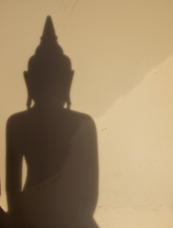 Shadow of image of Buddha photo