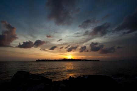 Sunset on the beach,Thailand photo