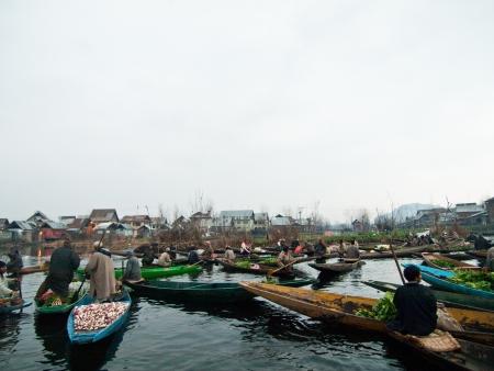 Floating market,Kashmir,India