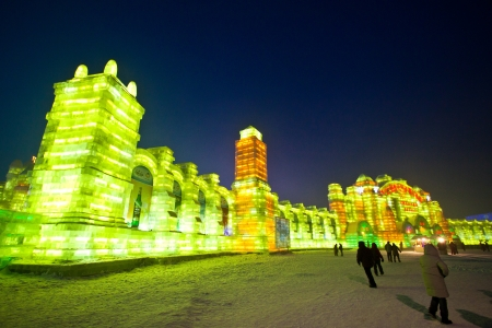festival: Ice festival in Harbin,China
