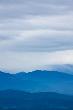 Mountain in the mist,Chiangmai Thailand photo