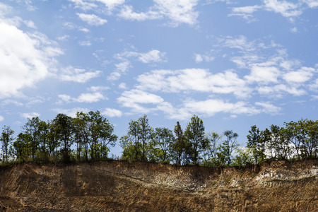 Cliff And cloudy sky in chiangrai thailand