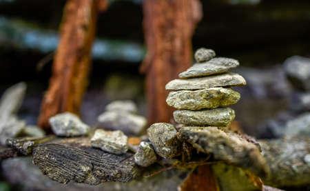 Stack of rocks near Crabtree Falls in Virginia.