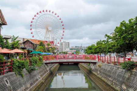 Ferris wheel at tourist attraction in Okinawa.