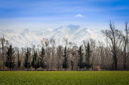 aconcagua: the white ridge of the Andes Stock Photo