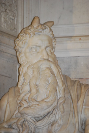 vincoli: Statue of Moses, Michelangelo, San Pietro in Vincoli, Rome, Italy