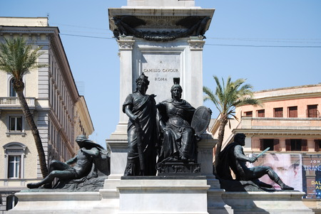 camillo: Monument to Camillo Benso di Cavour in Piazza Cavour, Rome, Italy Editorial