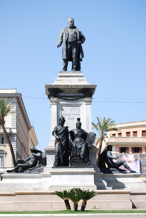 camillo: Monument to Camillo Benso di Cavour in Piazza Cavour, Rome, Italy Editorial